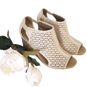 LifeStride Cork Wedge Heel Open Toe & Sides